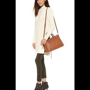 Rebecca Minkoff Regan Brown Leather Satchel Bag